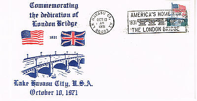 Usa Cover America's Home For The London Bridge Cachet 1971 Nice Cover
