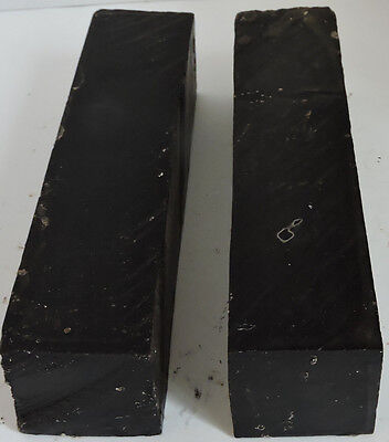2 African Blackwood Mpingo 1.75x7.75 Woodwinds Instruments Cutlery Knife Handles