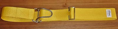 Diving Scuba Weight Belt 50mm Webbing Metal Heavy Duty Wire Loop Buckle DKYellow