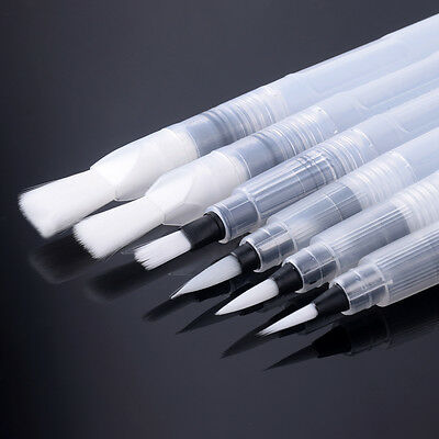 6Pcs Pilot Water Brush Pen Color Painting Calligraphy Learning Paintbrushes 3ED