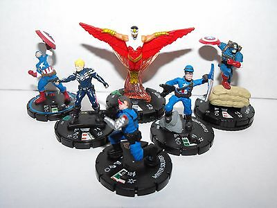 Marvel Heroclix Captain America & Friends Lot With Super Rare Winter Soldier