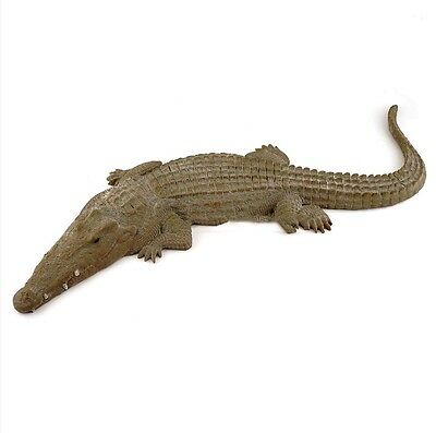 "27"" Alligator Statue Garden Decor Wildlife Crocodile Animal Figure"