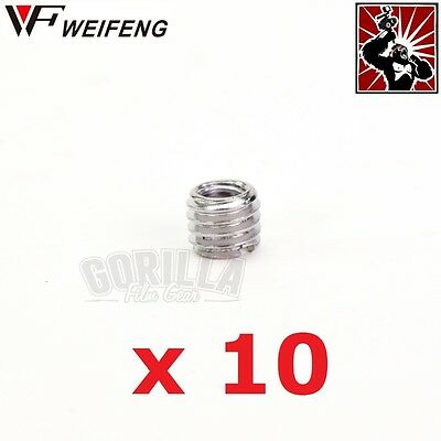 """10 x Metal Conversion Adapter 3/8"""" Male to 1/4"""" Female screw thread"""