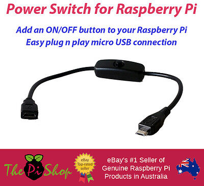 Power switch for Raspberry Pi 3 - Micro USB - On Off button