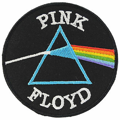 Pink Floyd Dark Side Moon Iron On Patch Sew Music Rock Waters 70s Embroidered