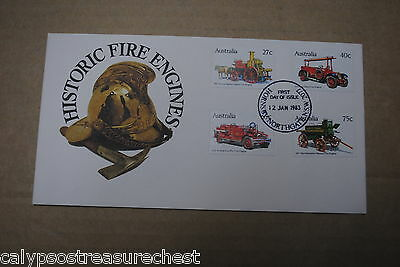 Australian Decimal First Day Cover Fdc - Historic Fire Engines - Combined Post