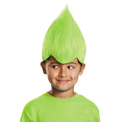 Child Green Wacky Troll Costume Wig