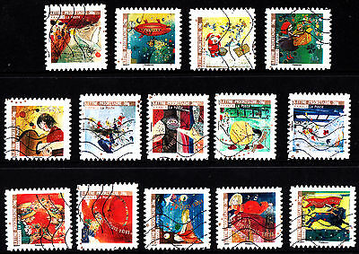 France 2009 Christmas Greetings Complete Set of Stamps P Used S/A