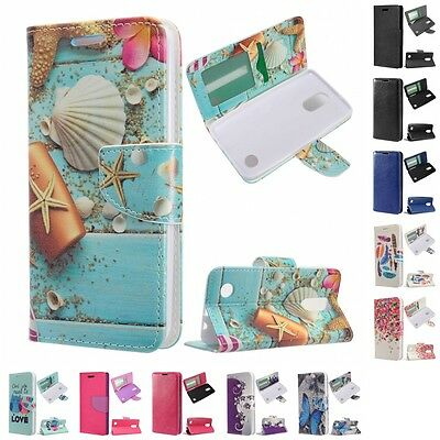 For LG Aristo LV3 MS210 Wallet Case Phone Cover With ID Card Pocket Slots
