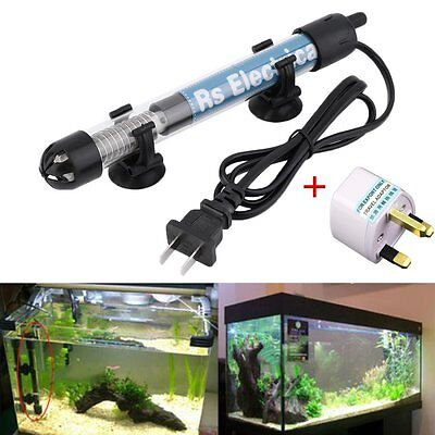 50W 100W Aquarium Mini Submersible Fish Tank Adjustable Water Heater PR