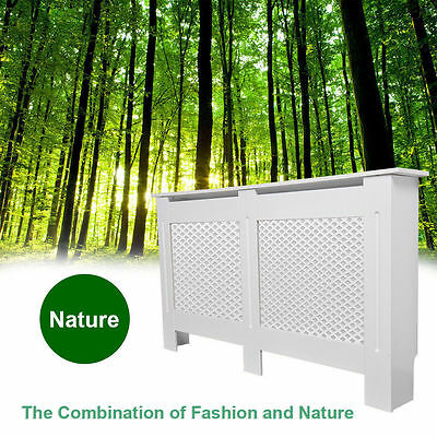 Modern Radiator Cover MDF White Painted Wood Large Cabinet Grill Home Furniture