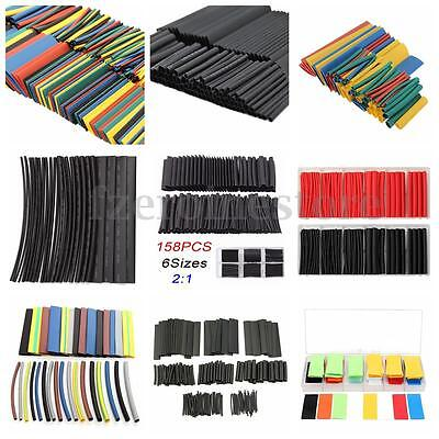 71-578Pcs Halogen-Free 2:1 Heat Shrink Tubing Wire Cable Sleeving Wrap Wire Kit