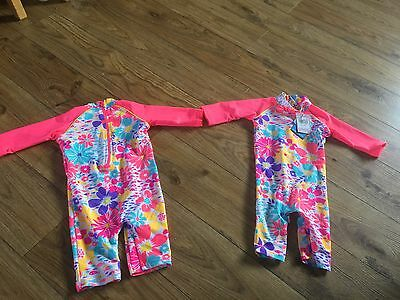 Baby Girls Full Body Swimming Costumes UPF 40+