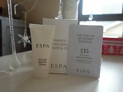 Espa Overnight Hydration Therapy & £15 Gift  Card Voucher