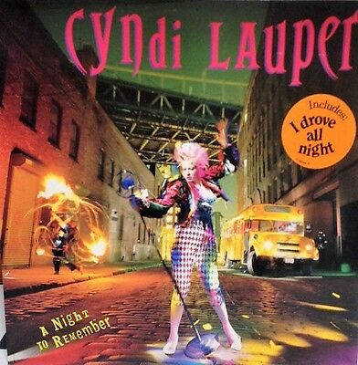 CINDY LAUPER - A night to remember - lp 33 gg