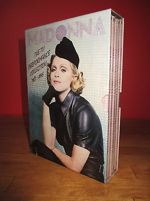 Madonna Box Sealed 5 X Dvd The Tv Performance Collection 1983-2005