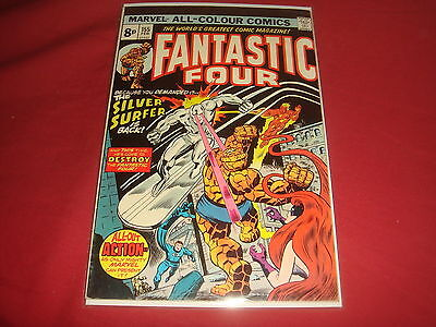 FANTASTIC FOUR #155  Bronze Age Silver Surfer Marvel Comics 1975  FN/VF