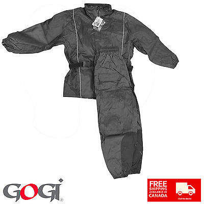 New Rain Suit 2 Pieces Jacket & Pant Reflective Piping Wet Weather
