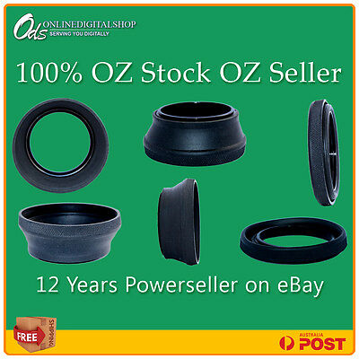 ODS NEW 49mm Rubber Lens Hood for 49mm Camera DSLR Nikon Canon Sony - AUSSIE