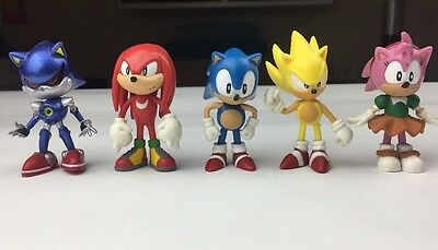5 SONIC THE HEDGEHOG, SEGA, JAZWARES ARTICULATE ACTION FIGURES Bundle, Job Lot