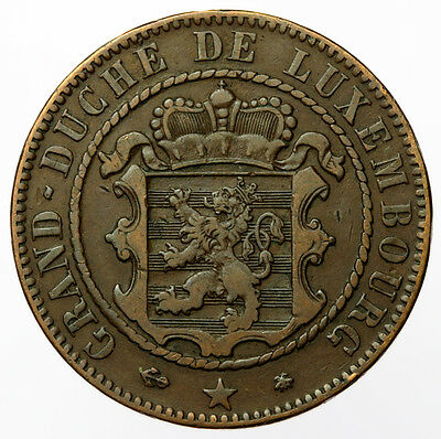 Luxembourg 10 Centimes 1865 - KM#23.2