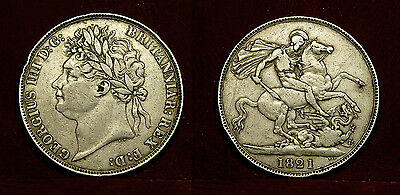 Great Britain - Crown 1821, George IV - silver , nice condition