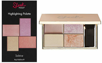 *New* Sleek MakeUp Highlighting Palette Solstice size 9g Boxed Sealed Authentic