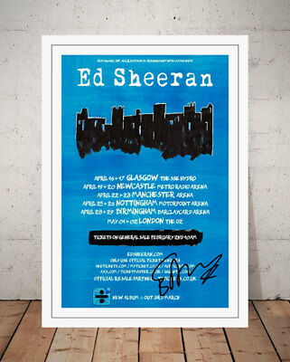 Ed Sheeran Divide 2017 Concert Flyer Autographed Signed Photo Print