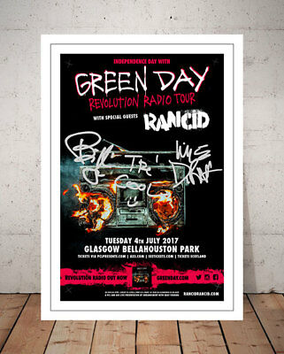 Green Day Revolution Radio Tour Flyer Autographed Signed Photo Print Poster - 1
