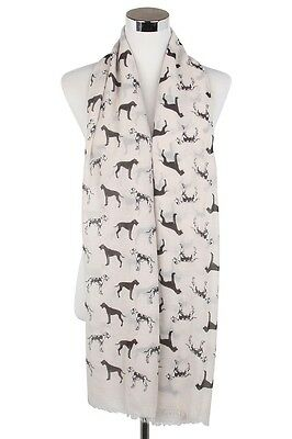 Great Dane Dog Scarf Shawl Wrap Great Gift for Dog Lover Beige FREE P&P