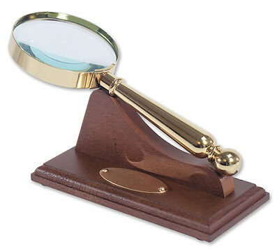 Personalised Magnifying Glass and Wooden Stand