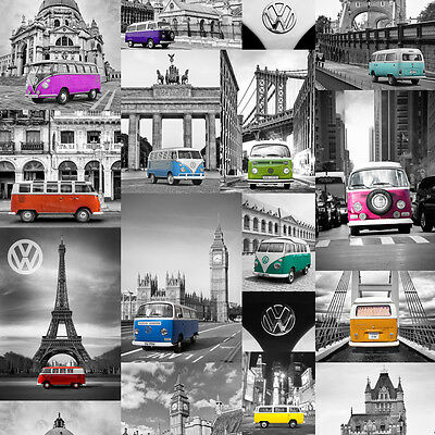 City VW Campers Wallpaper by Muriva - 102571