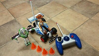 DISNEY Pixar TOY STORY - RC - Remote Controlled Toy CAR with Buzz Lightyear