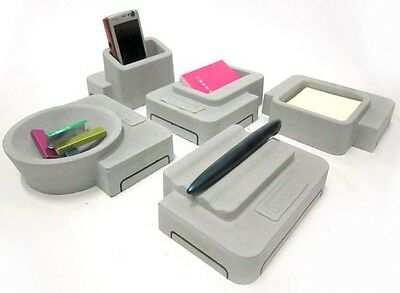 Umamy Concrete Desk Accessories Set Stationary Quality Design Grey NEW IN BOX