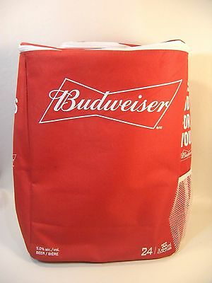 Budweiser Soft Sided Insulated Beer Soda Thermal Cooler Bag Backpack BUD 24 cans