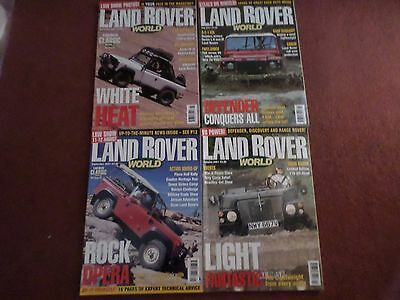 4 x OLD LAND ROVER WORLD MAGAZINE - JUL SEPT OCT NOV 2001 - COLLECTORS MAGAZINES