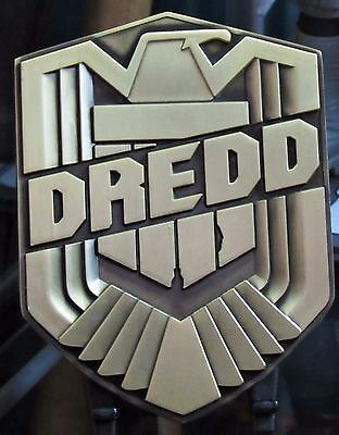 Judge Dredd 1:1 Replica Metal Badge Dredd Movie Underbelly Henry Flint