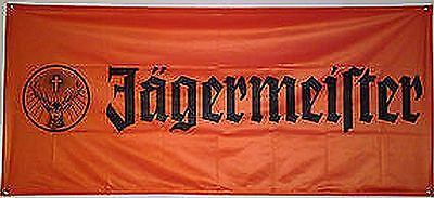 JAGERMEISTER 180 x 80 cm  BANNER FLAG MADE IN GERMANY 100% Polyester