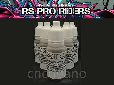 RS PRO RIDERS 10ml SKATE BEARING CLEANER & LUBRICANT SKATEBOARD SCOOTER FREE P&P