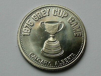 Calgary Canada 1975 Stampede DOLLAR Token/Coin with CFL Football Grey Cup Trophy