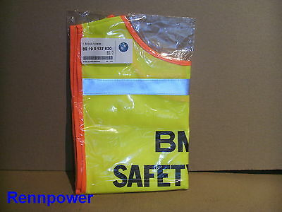 Neu Original BMW Kinderwarnweste Warnweste Weste Safety Vest 0137620