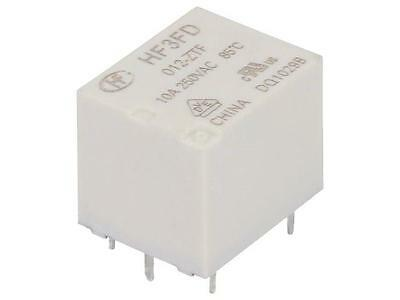 4x HF3FD/012-ZTF Relay electromagnetic SPDT Ucoil12VDC 10A/250VAC