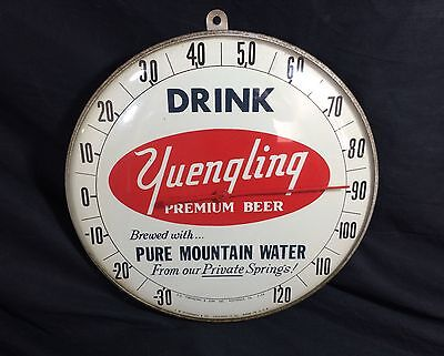 Yuengling Lager Beer Thermometer Glass Sign 1958 Original Pottsville PA Bar Pub