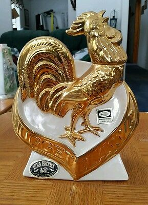 """1970 """"Nugget Classic Rooster"""" Ezra Brooks decanter"""