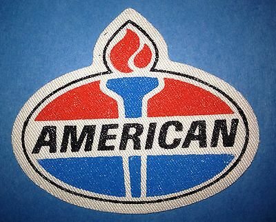 Rare 1990's American Oil Racing Sponsor Hat Jacket Iron On Patch Crest A