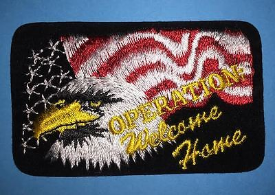 Operation Welcome Home Desert Storm Jacket Hat Iron On Patch Crest