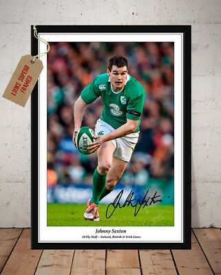 Johnny Sexton Leinster & Ireland Rugby Autographed Signed Photo Print - 1