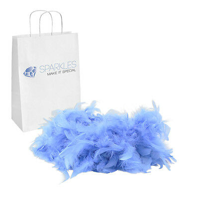 2yd Blue Feather Boa Birthday Bachelorette Party Wedding Special Event Decor