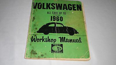 Vintage  Workshop manual for Volkswagen : all cars to January 1960.