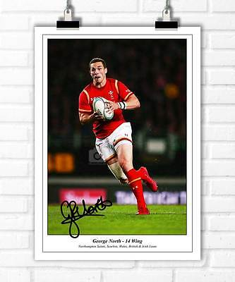 George North Wales Rugby Six Nations Autographed Signed Photo Print Poster
